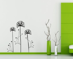Abstract Dandelion Design Sticker