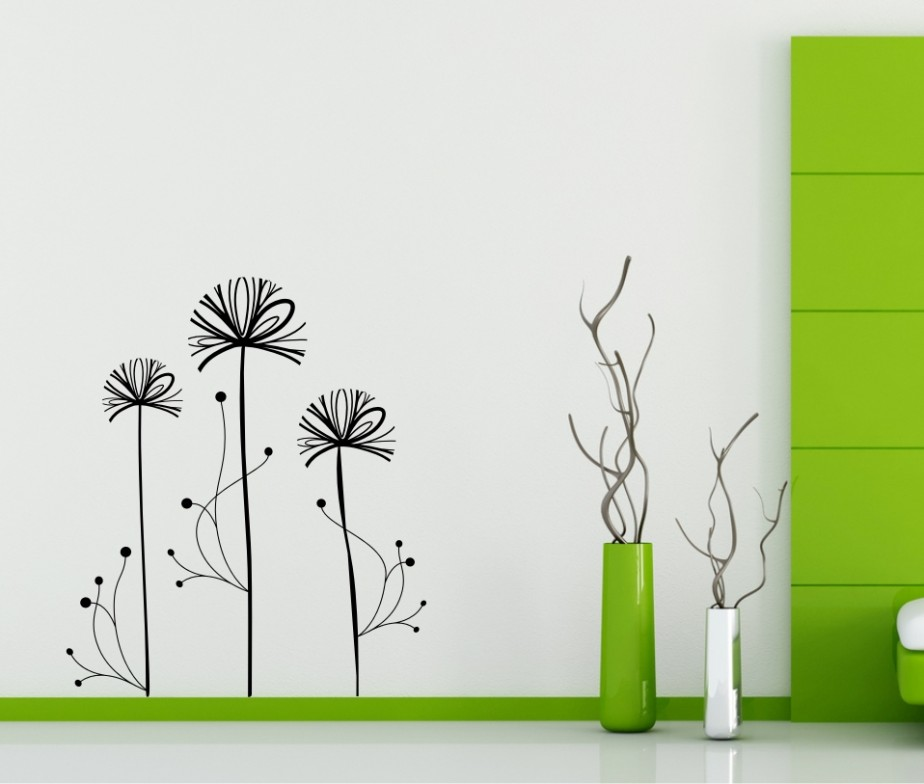 StickONmaniacom Vinyl Wall Decals Abstract Dandelion Design
