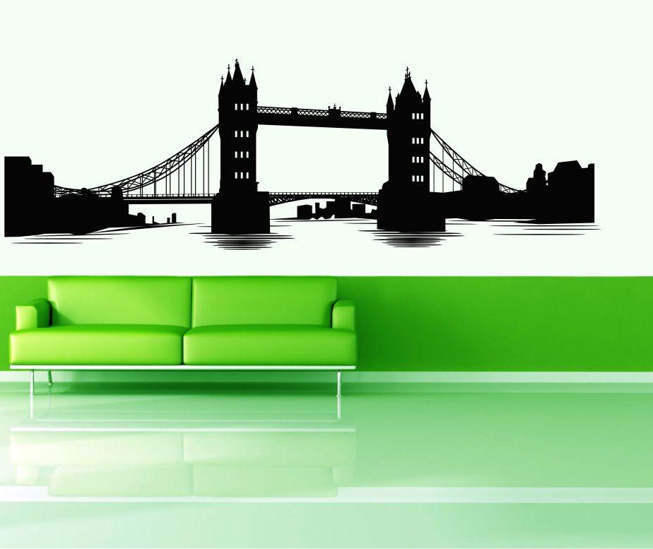 Vinyl wall decals london bridge for Design bridge london