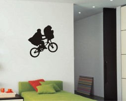 Flying Bicycle Movie Sticker
