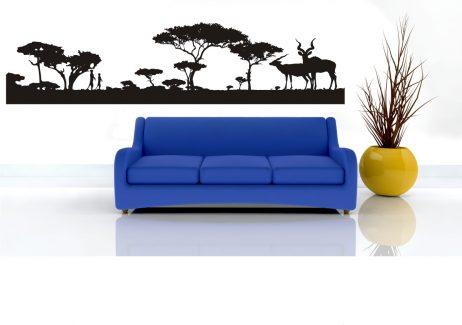African Landscape Sticker