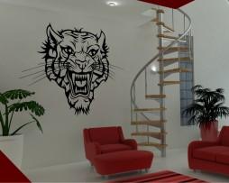Vicious Tiger Head Sticker