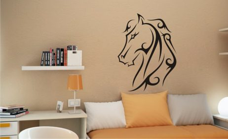 Abstract Horse Head Sticker