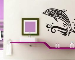 Ornate Dolphin Design Sticker