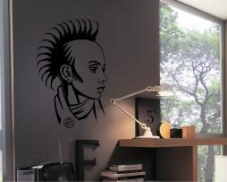 Mohawk Punk Design Sticker