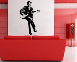Guitar Singer Sticker
