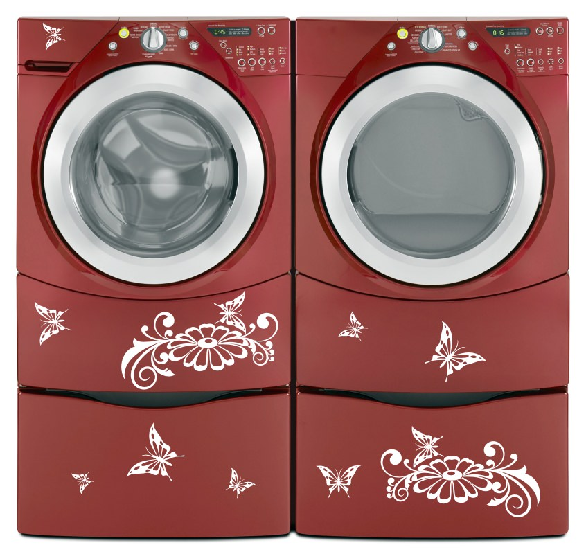 washing machine vinyl decals