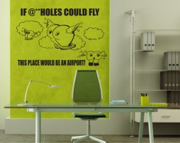 If @**HOLES Could Fly… Sticker
