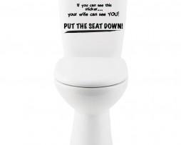 Put The Seat Down! Sticker