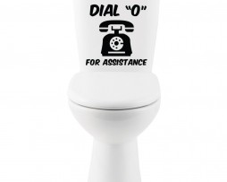 "Dial ""0"" For Assistance Sticker"