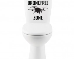 Drone Free Zone Sticker