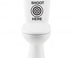 Shoot Here Sticker