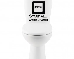 Delete Start All Over Again… Sticker