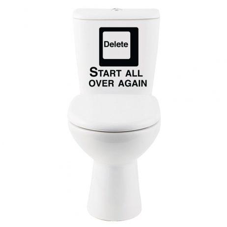Delete Start All Over Again… Sticker