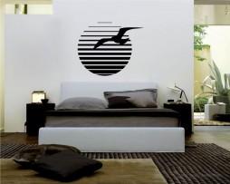 Sun and Bird Sticker