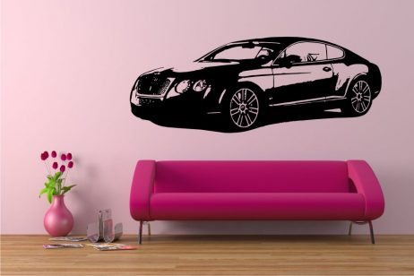 British Luxury Sedan Sticker