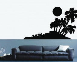 Palm Trees and Island Sticker