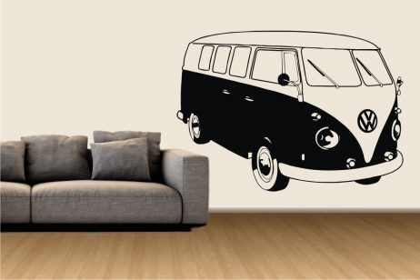 Retro Mini Bus Sticker