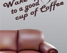 Wake Up To Coffee Sticker