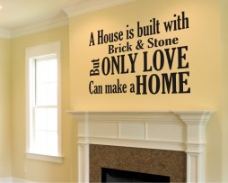 Only Love Can Make a Home Sticker